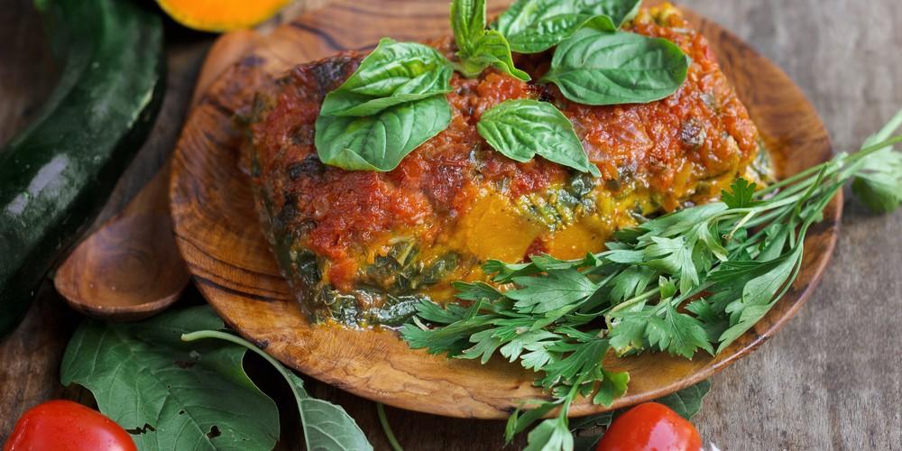 Recette Lasagnes végétariennes aux patates douces et ...