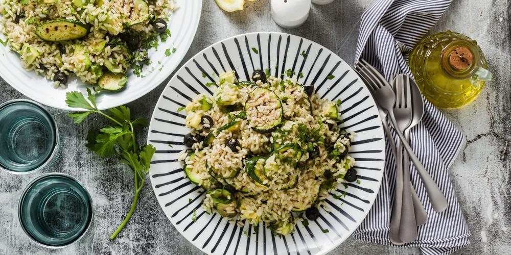 Recette Salade de riz aux courgettes et avocats facile ...