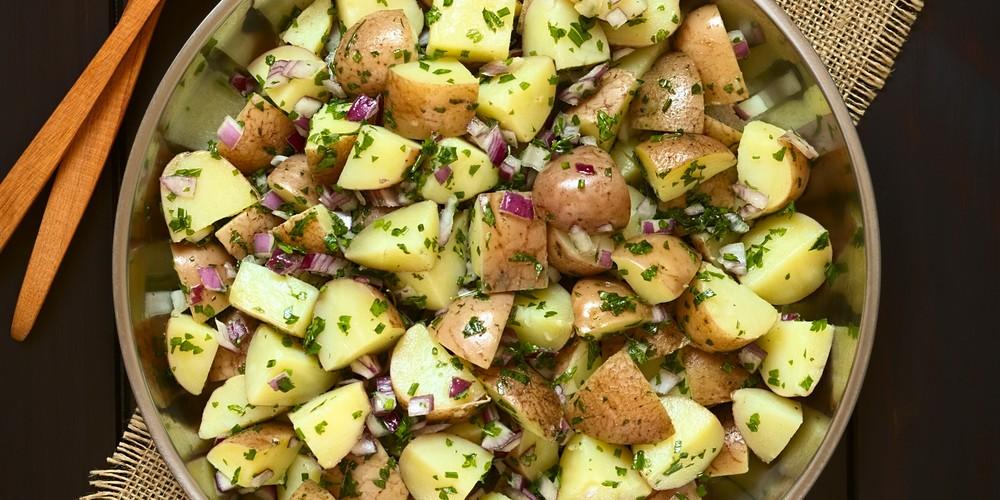 Recette Salade de pommes de terre à l'estragon facile ...