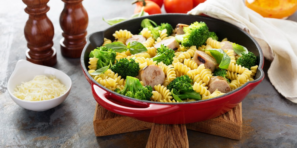Recette Salade de pâtes au poulet et brocoli facile   Mes ...