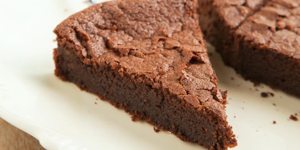 Tarta de chocolate y compota