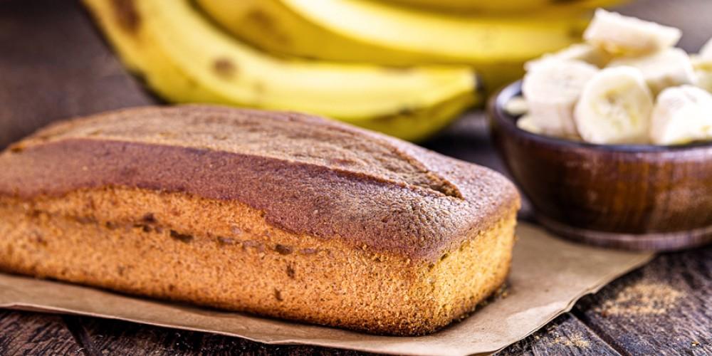 Pastel de plátano saludable
